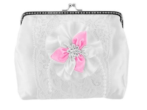 Dámská kabelka bílá, svatební kabelka E3
