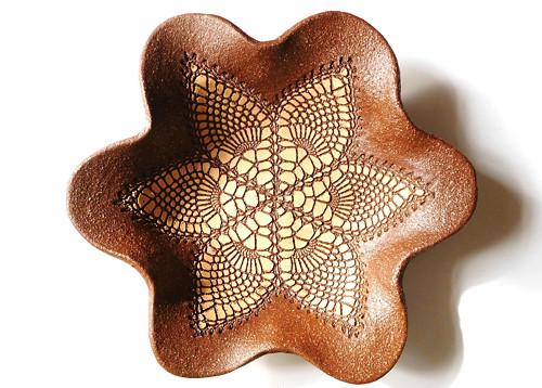 keramická mísa - krajková