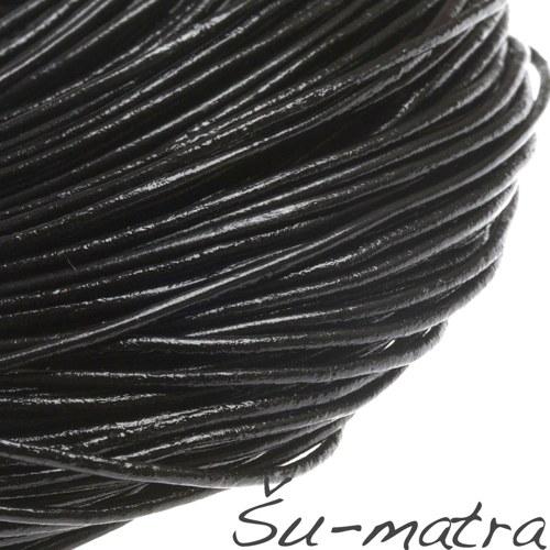 Kulatá kůže přírodní černá, 1,5 mm (1m)