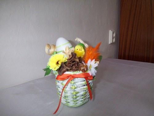 velikonoční košíček-dekorace