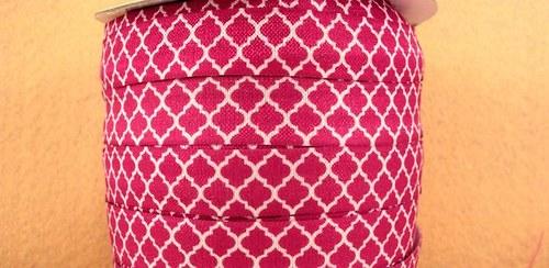Pruženka/guma š. 16 mm: Tile tmavě růžová