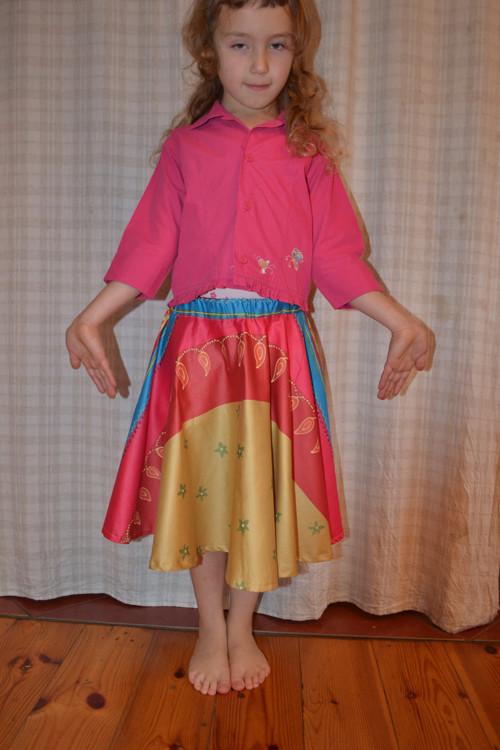 Kolová sukně pro holčičky