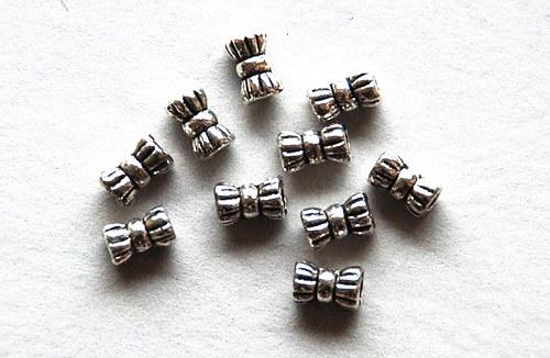 10ks kovové korálky 4x6mm