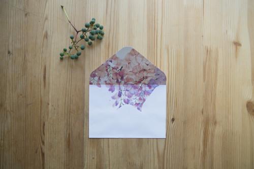 Květinová obálka