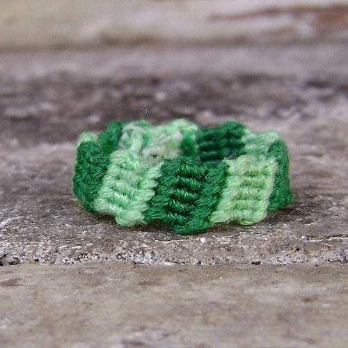 Jarně zelený prstýnek