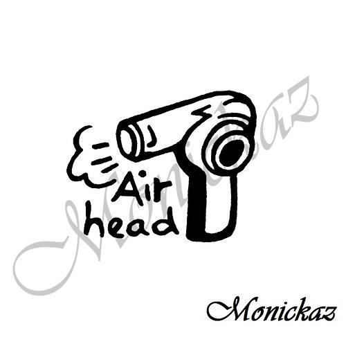 Air head... Omyvatelné razítko.