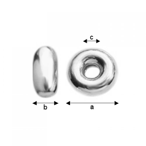 Korálek stříbro Ag 925/1000,  2 kusy