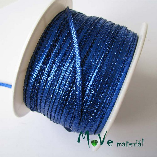 Stuha s lurexem modrá, 3mm, 1m
