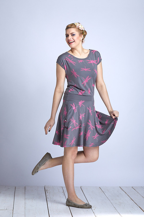 Dress Wheeled Gray/Pink Dragonfly