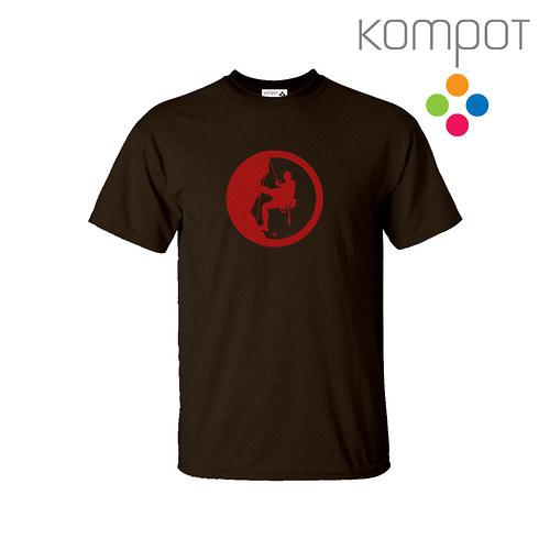 Pánské tričko HOROLEZEC :: hnědá, vel. S - 2XL