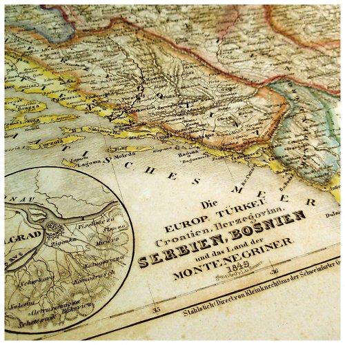 Historická mapa z roku 1850 SRBSKO, BOSNA č.1064