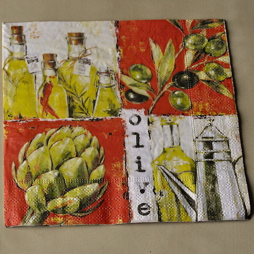 Ubrousek - Artyčok s olivami