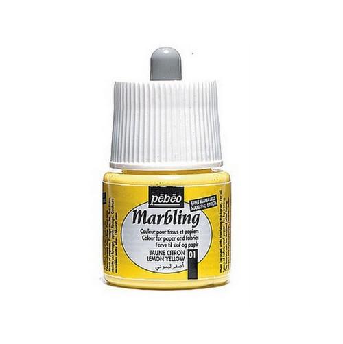 Marbling barva Pebeo / 45 ml / Lemon Yellow