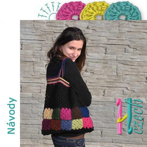 Háčkovaná taška ala patchwork barvička