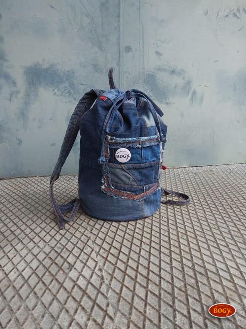 unisex sešívaný batoh s kulatým dnem, zerowaste 5