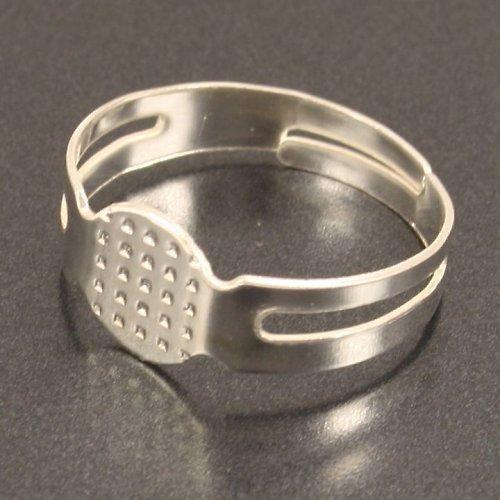Základ na prsten stříbrný,lůžko 8 mm, 2 ks