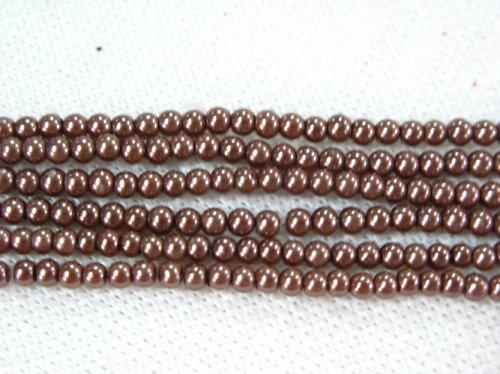 Perle hnědé světlé 6mm 10ks
