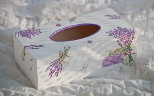 krabička na kapesníky-levandulová