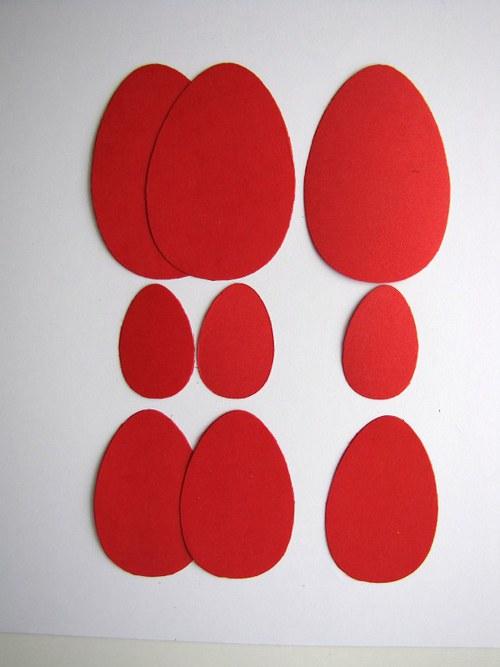 Kraslice červené - 9 ks