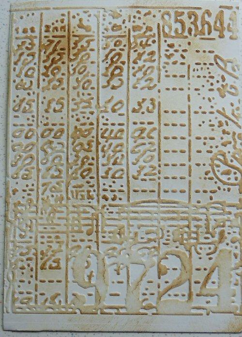 Embossovaný polotovar k dotvoření - čísla