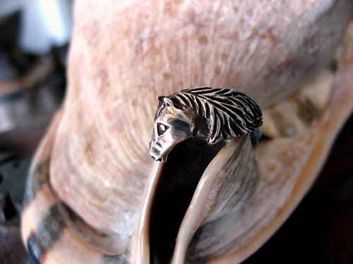 Nahar - starostříbrný prsten