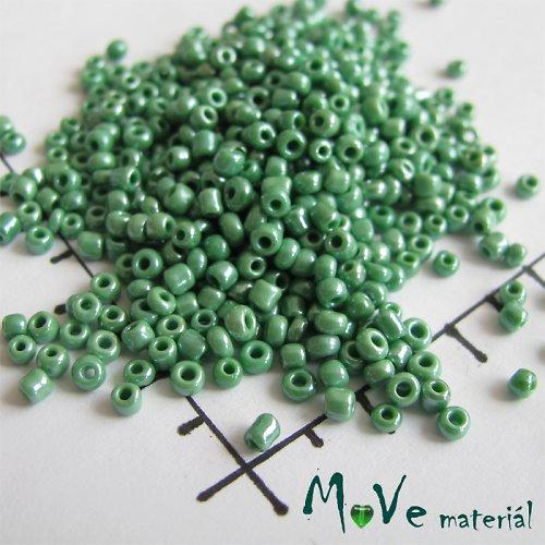 Český rokajl zelený cca 2,5mm 20 g