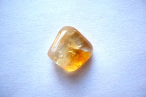 Troml. kámen – citrín, 14 mm, č.3