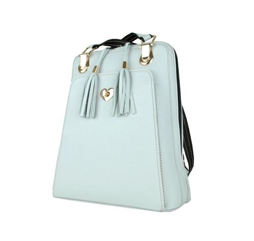 Kožený ruksak z pravej hovädzej kože,perlová farba