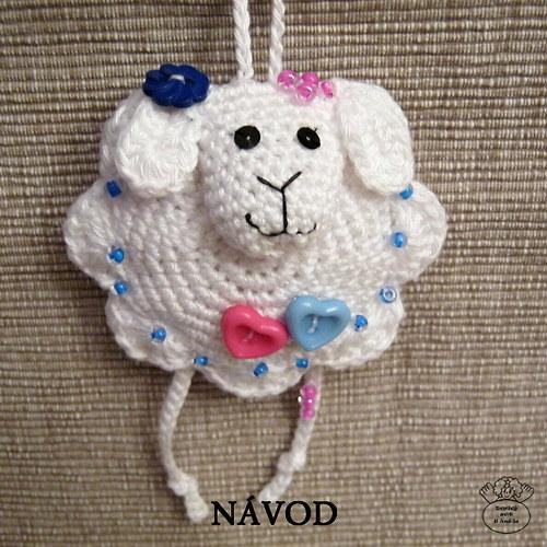 Návod_háčkovaná závěsná dekorace ovečka