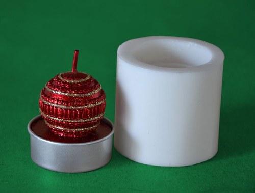 Silikon. forma na čaj. svíčku - Vánoční baňka