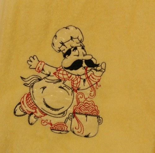 Ručník s výšivkou kuchař Pepíček 7