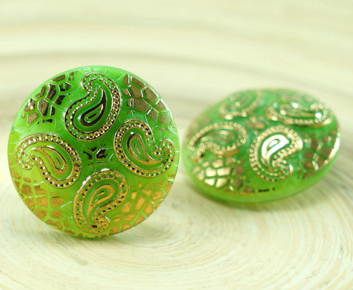 1ks Neprůhledné Olivově Zelené Zlato Listy Hadí Ků