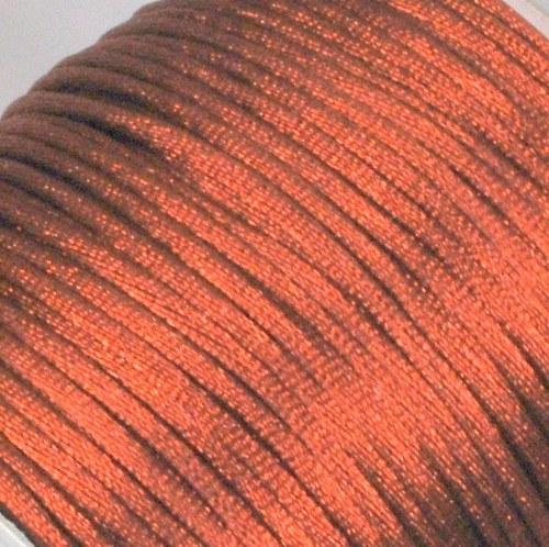 Saténová šňůrka 2 mm / měděná
