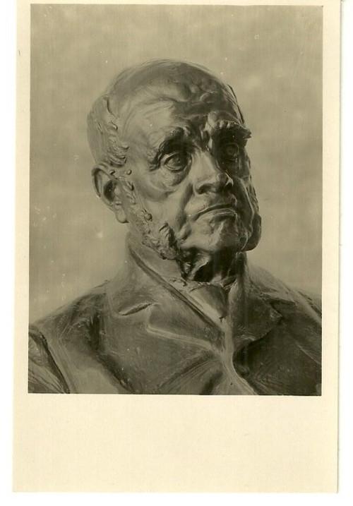 Umělecká pohlednice socha J.V.Myslbek