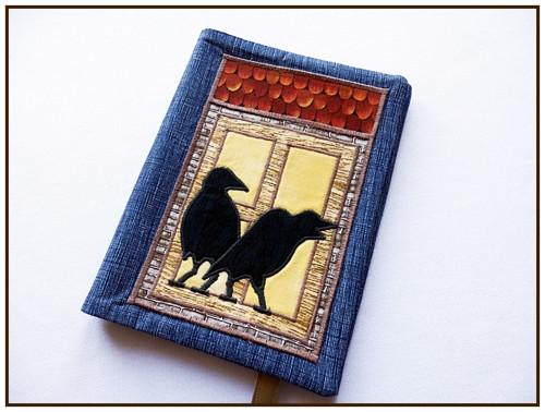 Obal na knihu  s havrany