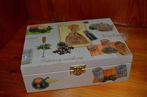 Krabička na čaj - čajová