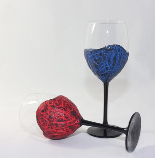 """Sklenice na víno \""""Ty a já\"""" II. - na objednávku"""