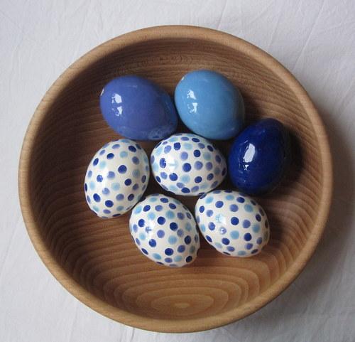 vajíčko modrá směs