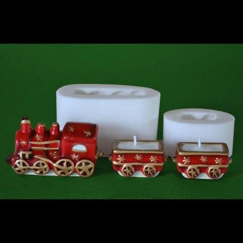 Formy na svíčky Vláček malý, vel. 7,5 a 4,5cm