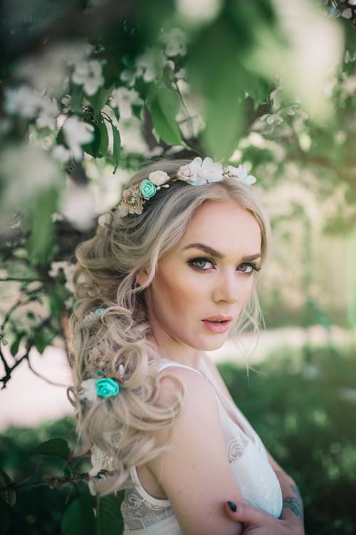 Svatební set - mentolová, zlatá, bílá