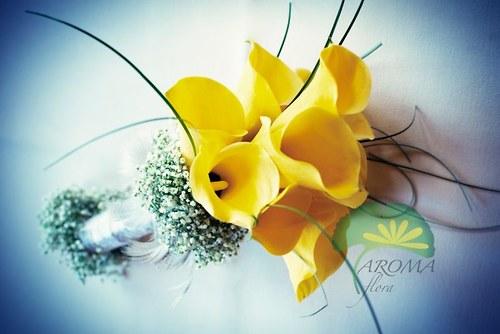 Svatební květina ***žluté kaly