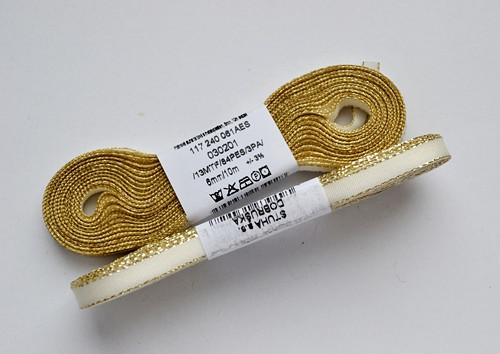 Taftová stuha s lurexem