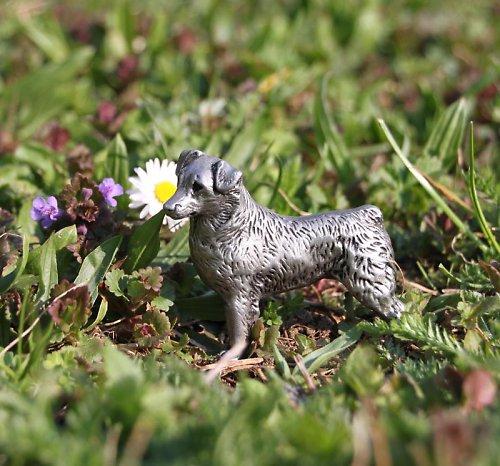 Cínová soška australského ovčáka