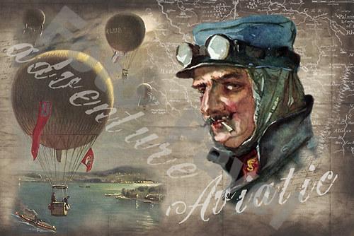Vintage motiv -  aviatik - 1898