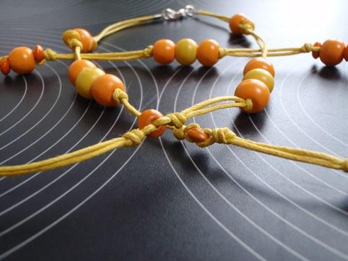 Náhrdelník žluto-oranžové léto
