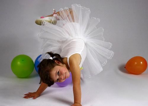 Baletní tylová sukýnka bílá