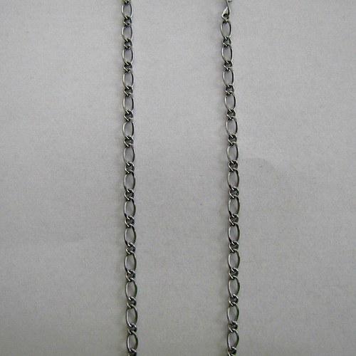 Ozdobný řetízek 50 cm - platina