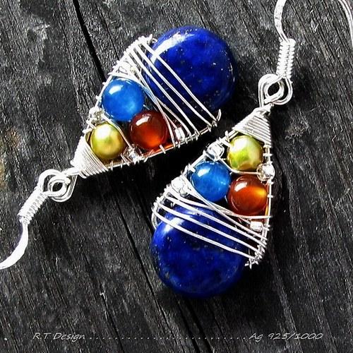Lapis lazuli náušnice....Ag 925/1000