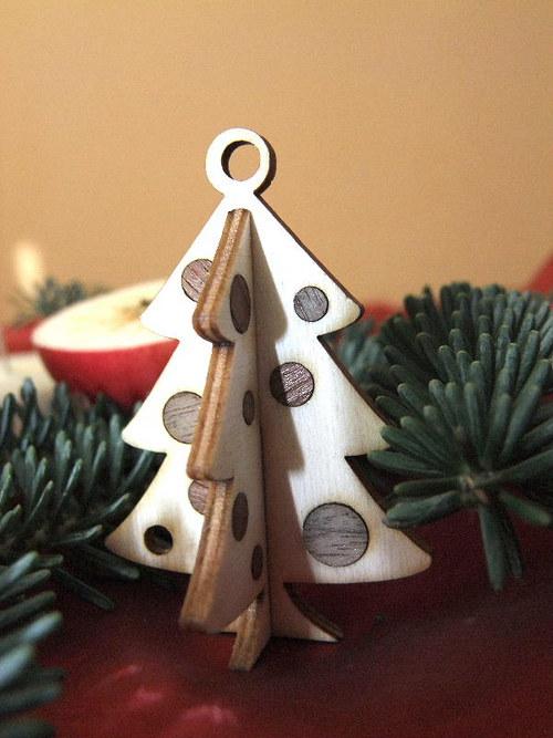 Vánoční strom, stromeček - BAŇKY 7cm