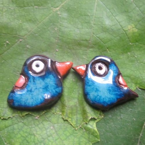 Náušničky ptáček